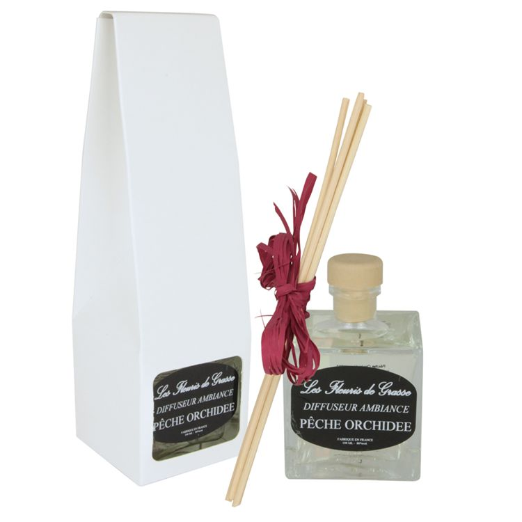 DIFFUSEUR D AMBIANCE MAISON -  PECHE ORCHIDEE  100 ml